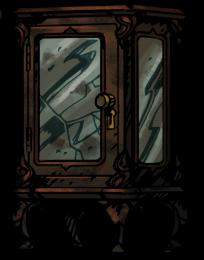 鍵のある飾り棚